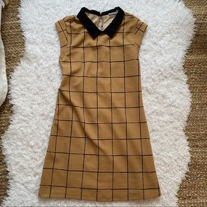 LUSH Neutral Collared Dress Small